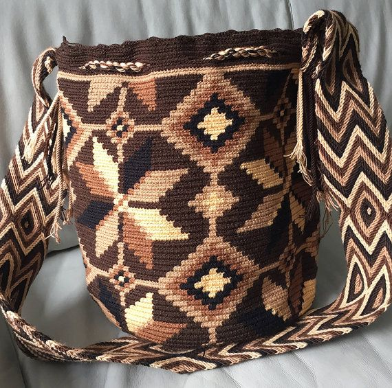 Wayuu Bag Mochila Hand Woven Ship Worldwide 327 por PurpleCatStore