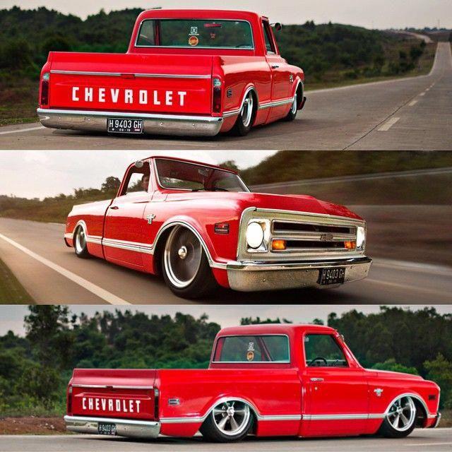 American Hotrod 60s 70s Chevy GM Pickup Truck Lowered Sweatshirt Large