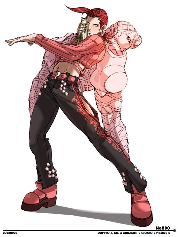 ash crimson is Doppio from Jojo's Bizarre Adventure!