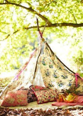 Selina Lake handmade tent for Mollie Make Calender 2013