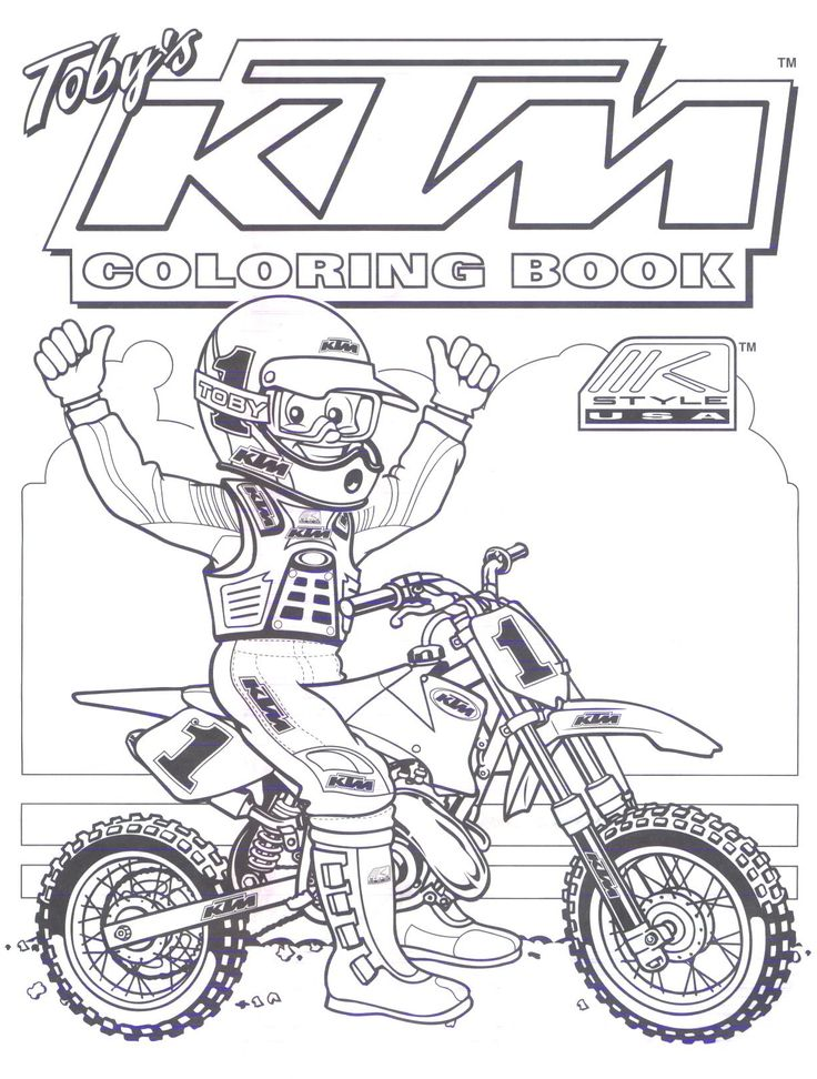 motocross ktm Colouring Pages Dirt bike birthday, Ktm