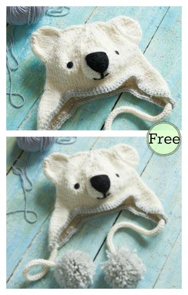 0b1ce354edc Polar Bear Hat Free Knitting Pattern