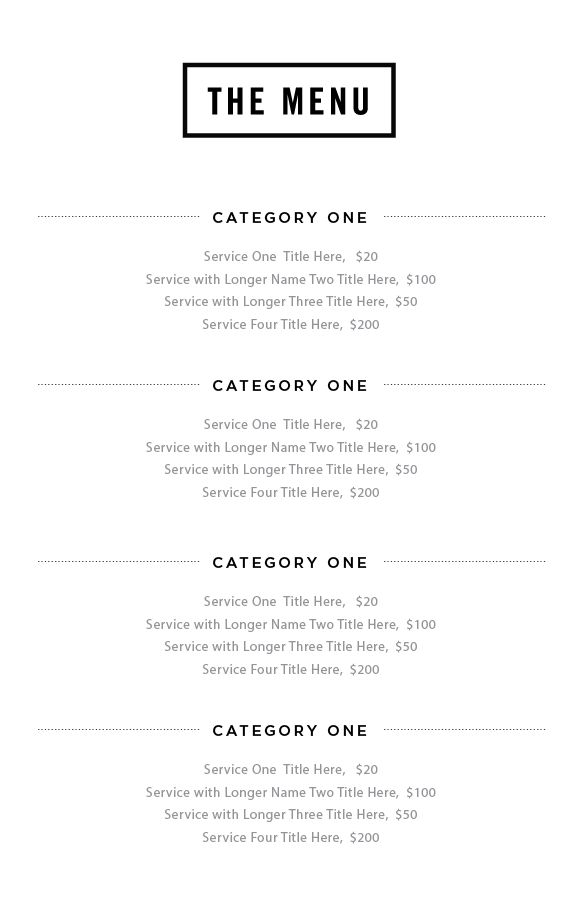 15 best Service menu images on Pinterest | Hairstyles, Salon ...