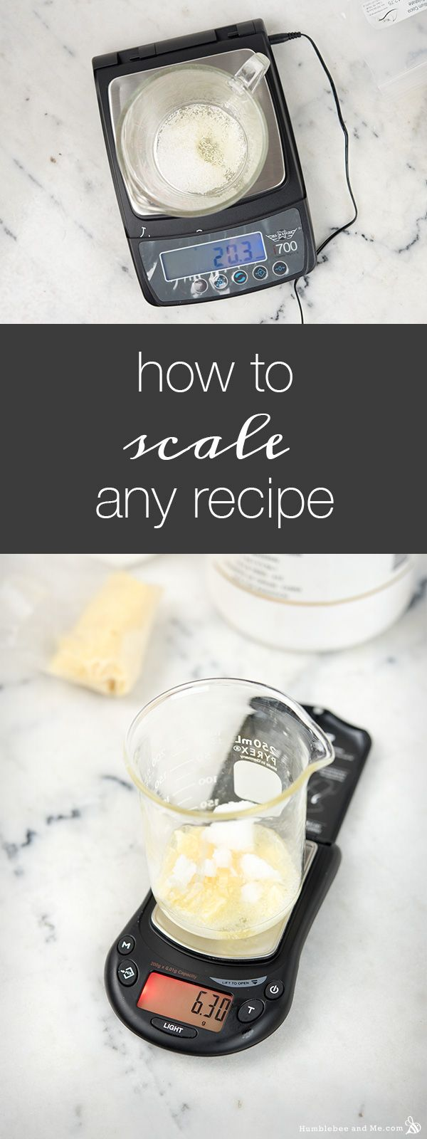 How to Scale Any Bath + Beauty Recipe