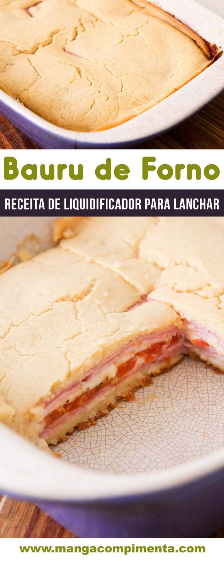 Bauru de Forno - uma deliciosa torta de liquidificador para lanchar com a família! #receita #comida #lanche #tortadeliquidificador