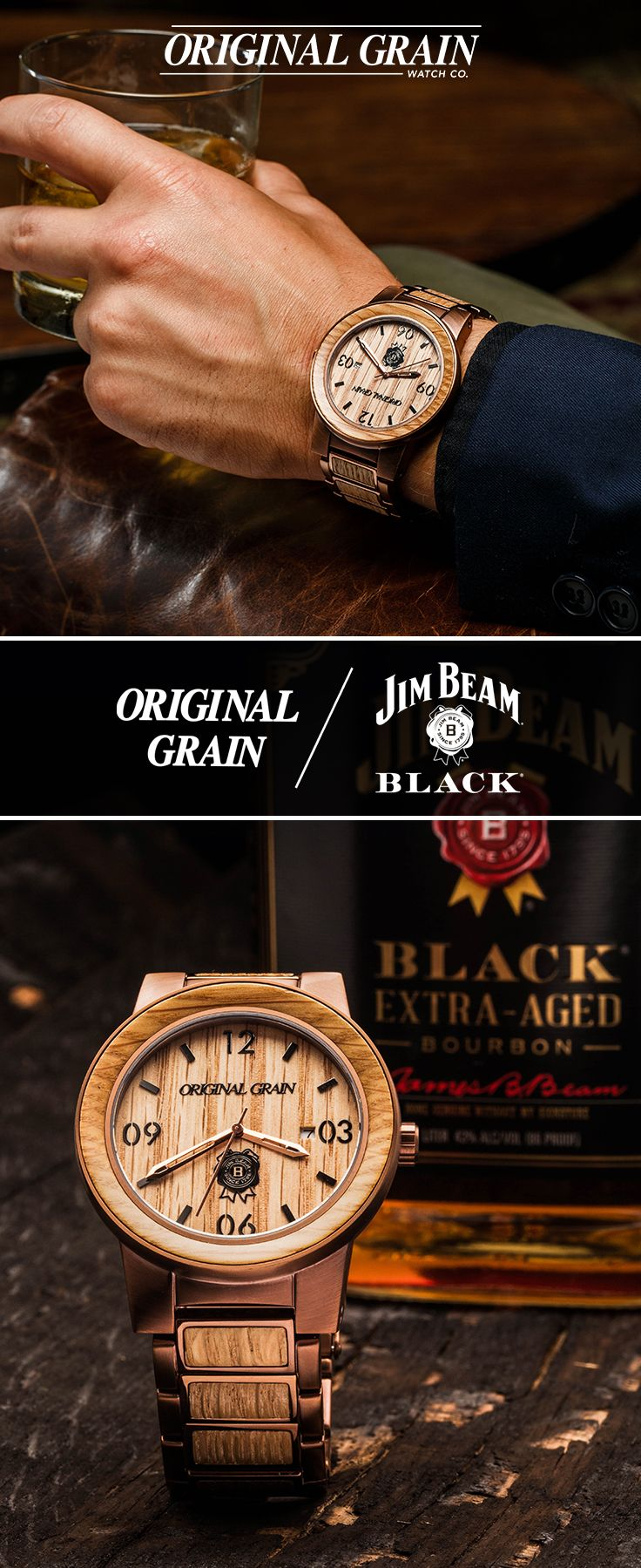 grain products whiskey original by espresso barrel watches