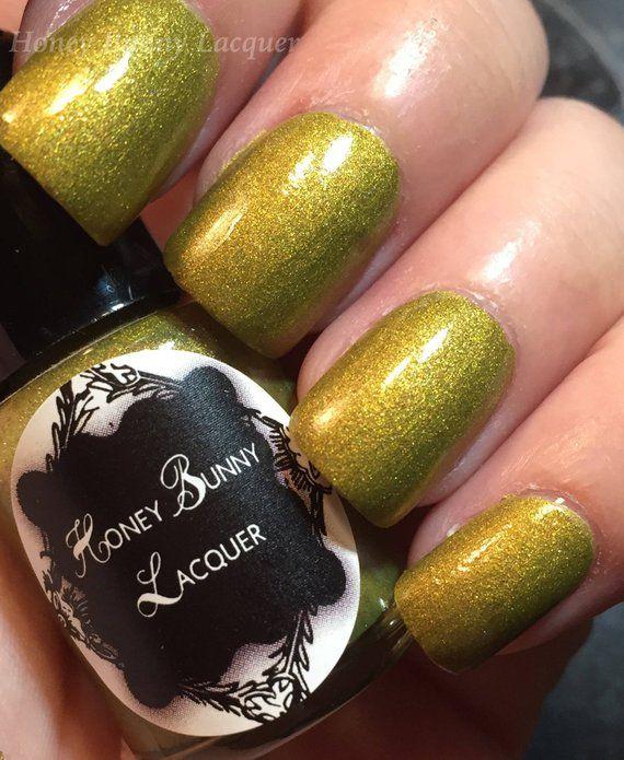Autumn Leaves – matte nail polish – matte green – 5 free – handmade – indie nail…