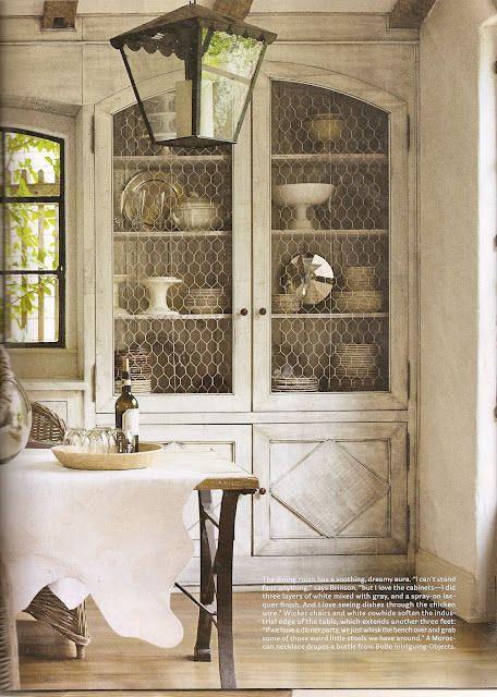 17 Best Ideas About Chicken Wire Cabinets On Pinterest