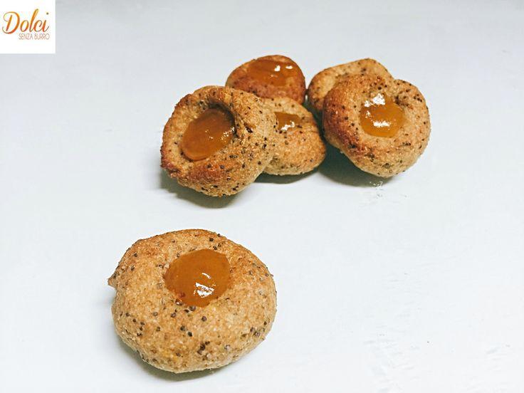 Biscotti Integrali Senza Burro alla Marmellata - Dolci Senza Burro