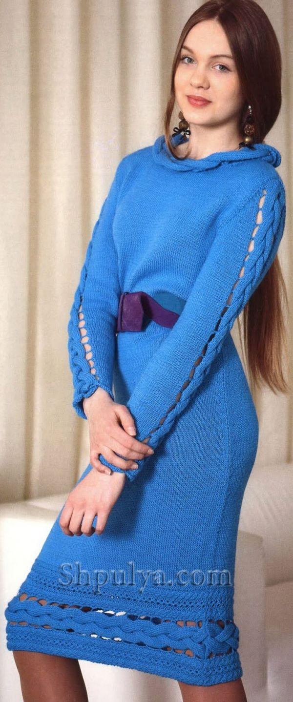 вязание спицами для платья со схемами и описаниями