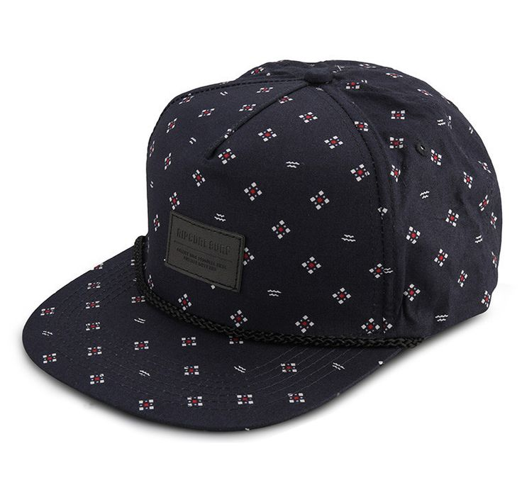 Outcast Snap Tab Cap by Rip curl. Snapback with navy blue color, unique pattern print all over, Rip Curl logo patch at front, adjustable snapback closure. This navy blue snapback made from polyester and cotton material. http://www.zocko.com/z/JJ4FA