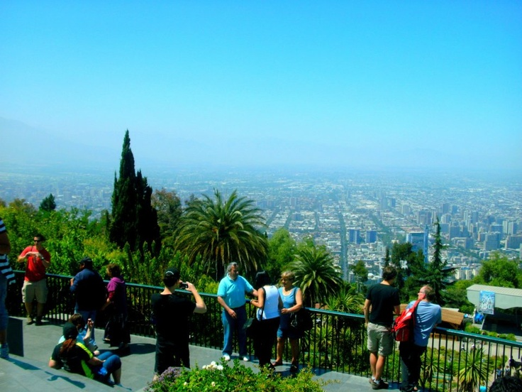 """from the top of """"cerro San Cristobal"""" or san cristobal hill! over looking Santiago"""
