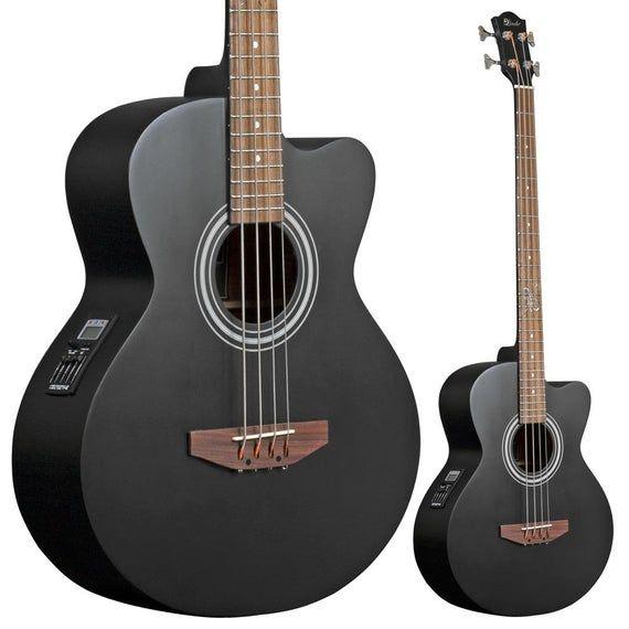 Lindo Acb Matt Black Electro Acoustic Bass Guitar Etsy Acoustic Bass Guitar Acoustic Bass Black Acoustic Guitar