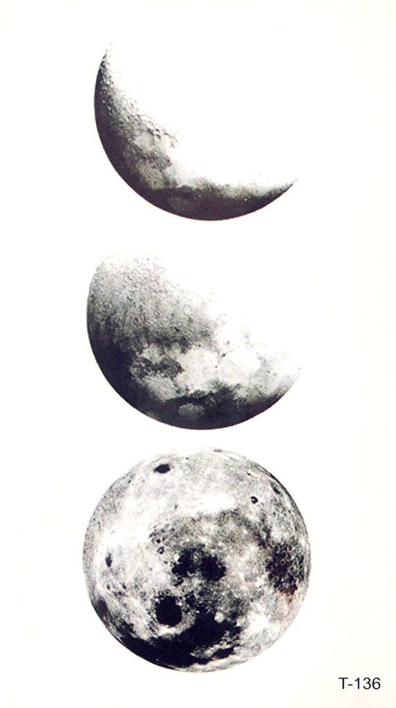 Black Cool Moon Phases Tattoo Ideas for Women - www