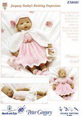 Jacquay Yaxley 103 baby dolls dress set knitting pattern