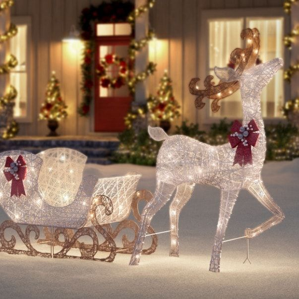 Christmas Decorations The Home Depot Christmas Yard Decorations Outdoor Christmas Decorations Yard Outdoor Christmas Reindeer