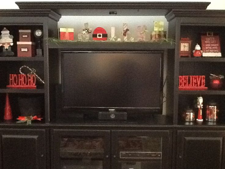 Christmas Decor Holiday Entertainment Center Seasonal