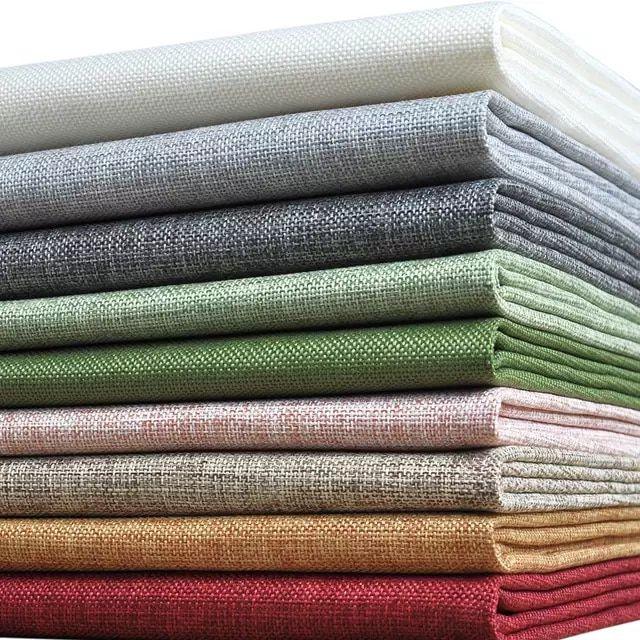 Tejido De Lino De Colores Falsos Tejido Barato Tejido Pre Cortado Textil Para Costura De Cortinas Por El Metro Tecido Telas Costura De Tela Decoración Con Tela