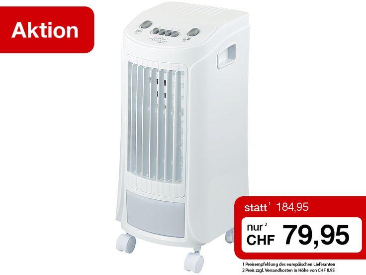 Dieser leistungsstarke 3-Stufen-Luftkühler mit Wasserkühlung sorgt dank der Evapo-Transpirations-Technologie auch an glutheissen Tagen für angenehm frische Zimmertemperaturen. Und das ganz ohne lästiger Abluft-Abführung! Das Kühlen mit Wasser befeuchtet zudem die Raumluft. So wirkt der Luftkühler sehr effektiv gegen trockene Luft und spart Strom!  Jetzt den erfrischenden Luftkühler zum Sonderpreis sichern…