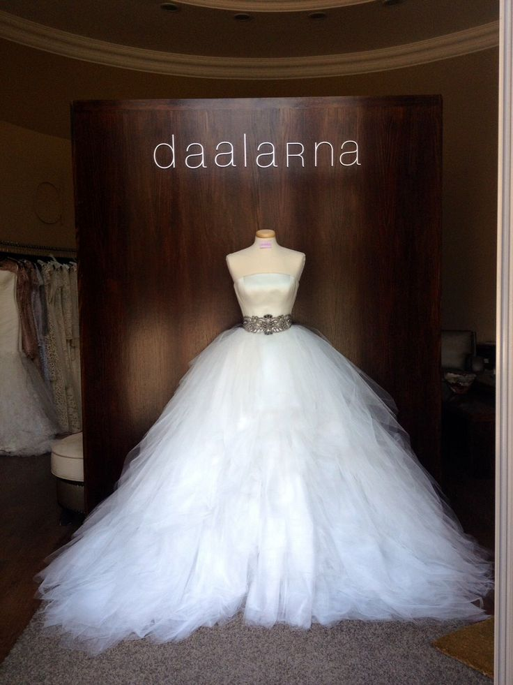 June 2014  Tulle Daalarna Couture wedding dress with a crystal-belt