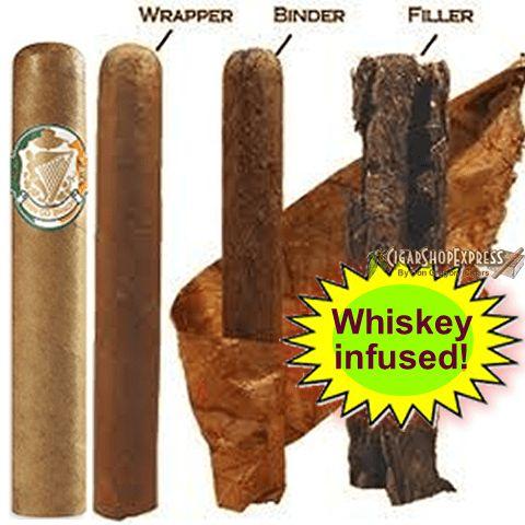 Erin Go Bragh Robusto Irish Whisky Infused - https://cigarshopexpress.com/online-cigar-shop/cigars/cigars-erin-go-bragh/erin-go-bragh-robusto-irish-whisky-infused/
