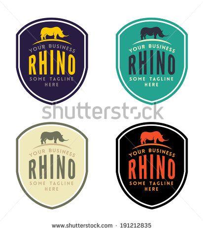 Rhinoceros Emblem for Your Business