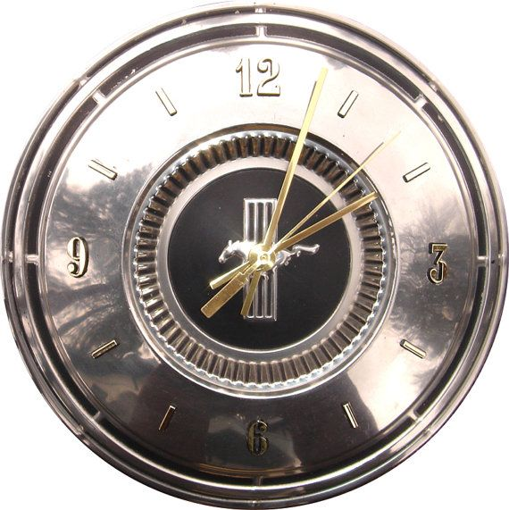 Ford Mustang Hubcap Clock with numbers h hub cap by GreenWisdom, $79 ...