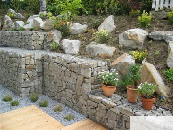 gabionen gartengestaltung gardening ideas pinterest. Black Bedroom Furniture Sets. Home Design Ideas