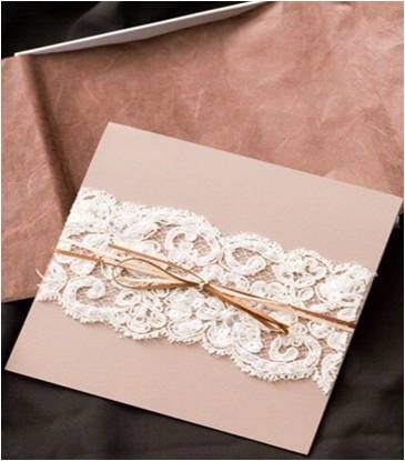 Wrap a card with lace <3