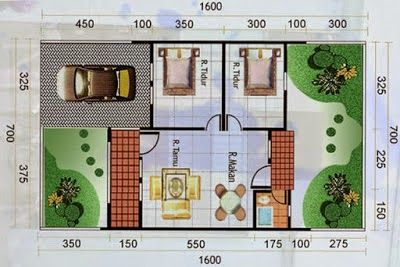 denah rumah minimalis type 60   small house design, house