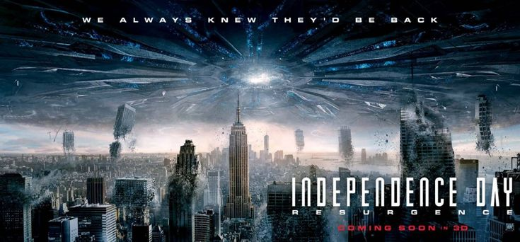 Happy Independence Day!! Hope your fireworks are as interesting as an alien invasion