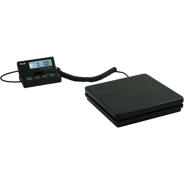 American Weigh Low Profile Shipping Scale, Black