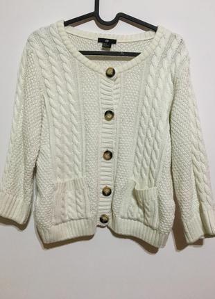 H and M kremowy sweterek biały M