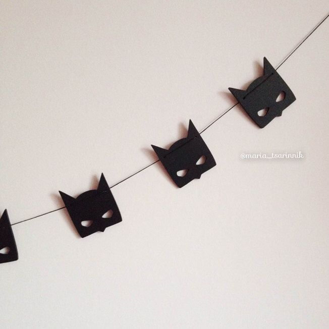 "Wooden garland ""Batman"" by Purplepollen on Etsy https://www.etsy.com/listing/257078690/wooden-garland-batman"