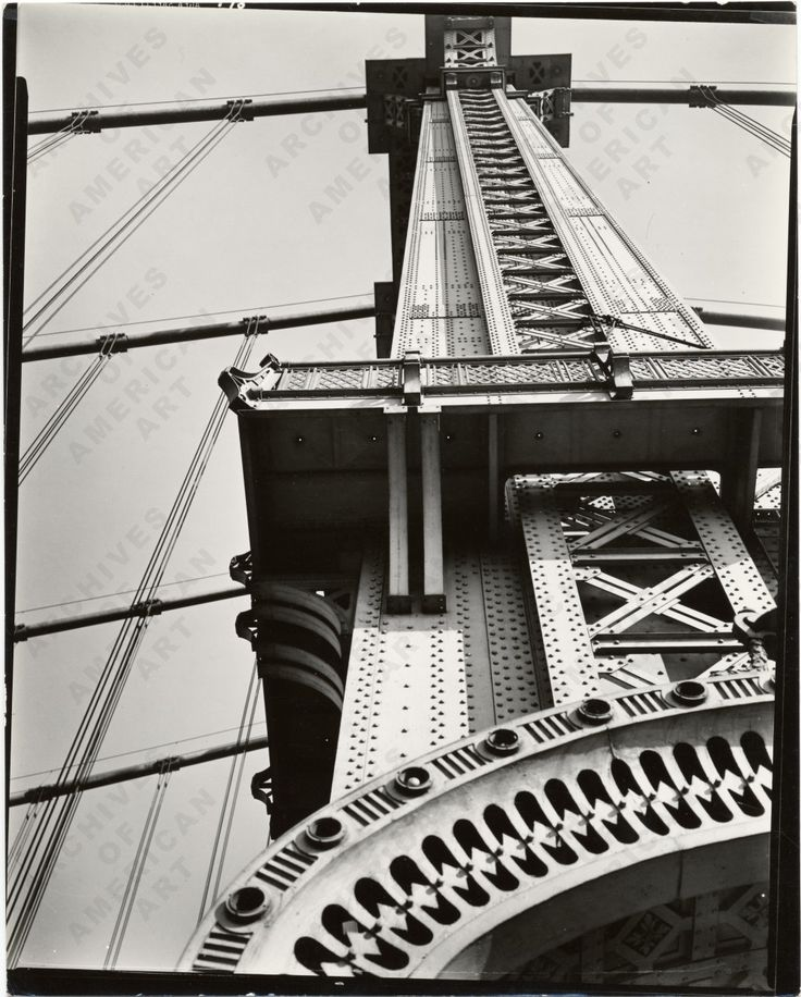 MANHATTAN BRIDGE LOOKING UP by Berenice Abbott in 1936