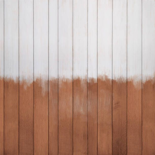 wood texture background with half painted white