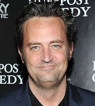 """Matthew Perry... still looks like my husband... i watch a lot of """"Friends"""" while he's away."""