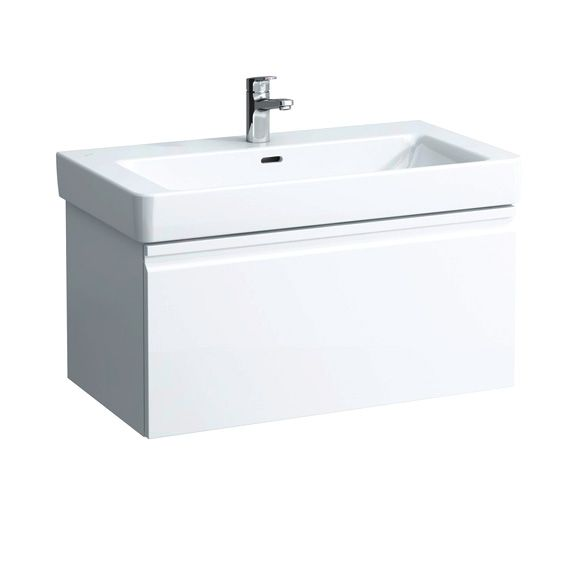 Laufen Pro S Waschtischunterbau, 1 Schublade weiß matt