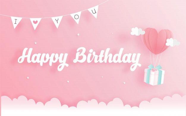 Tarjeta De Cumpleanos Con Caja De Regalo En Papel Cortado Estilo Ilustracion Vectorial Descarga Birthday Wallpaper Baby Birthday Balloon Free Birthday Stuff