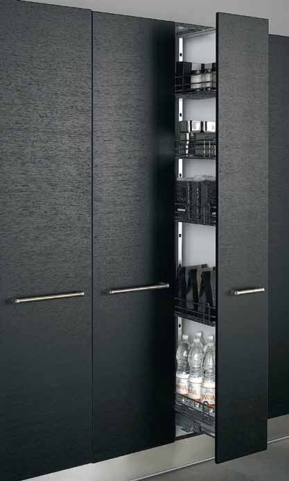 Everything beautifully hidden away, but comfortably in reach -- that's the promise of Arclinea. Here, our Pantry cabinets in black wood grain. #ArclineaNY