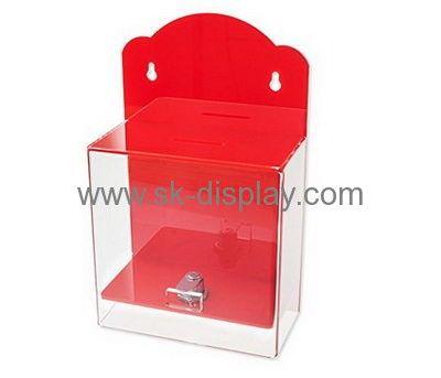 Acrylic suppliers custom acrylic display boxes plexiglass ballot box DBS-211