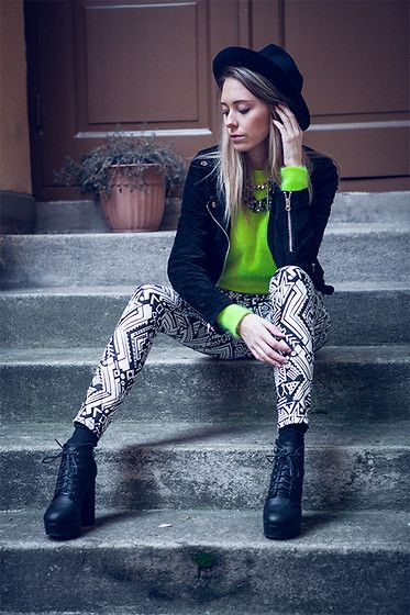 Lime. (by Martina M.) http://lookbook.nu/look/4446233-Lime
