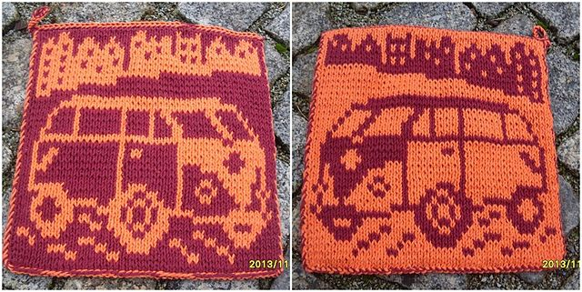 "Ravelry: VW ""Bulli"" T1 pattern by maku flo would be a cute pillow"