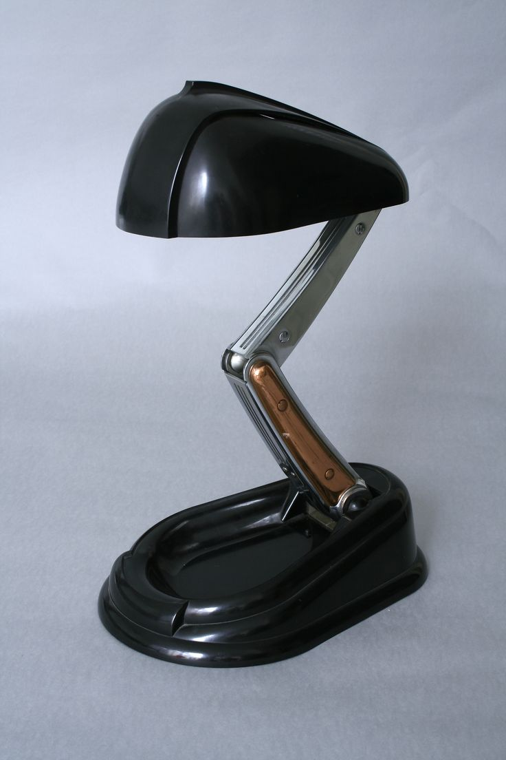 Lámpara Jumo diseñada por André Monique de Baquelita y metal. 1938