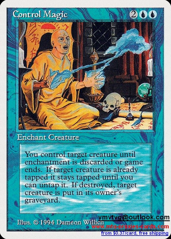 Control Magic.xlhq Magic The gathering proxy mtg proxies cards customize from 0.37$ free shipping SUM - Summer Magic (Edgar)