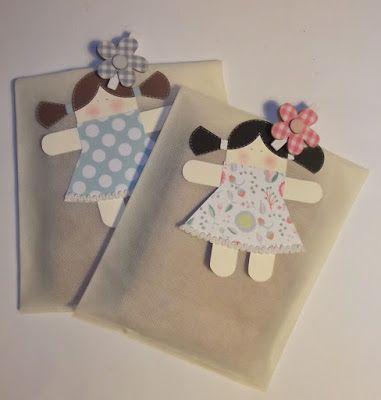 cartoncino mio: Tag bambolina con codini