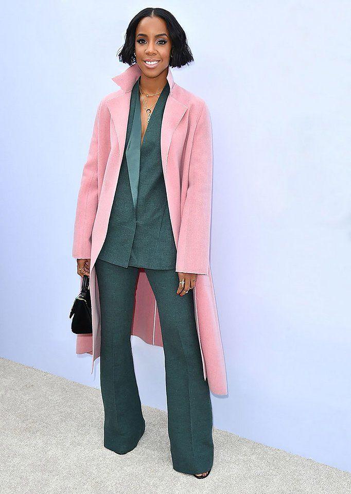 Kelly Rowland. I love those vintage colors she's rocking!