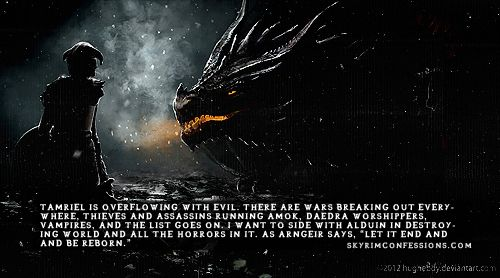 There should be a mod for this .. Like have a completely alternative storyline where you can decide (at Helgen, or once you meet with the Greybeards) that you want to side with Alduin. Once you go down that path- many of the choices (and paths) we know will be gone- instead we can aid Alduin with his destruction but ultimately we can betray him so we can be the true 'villain' in Skyrim. Ok so why isn't this an option!!??!! -DR