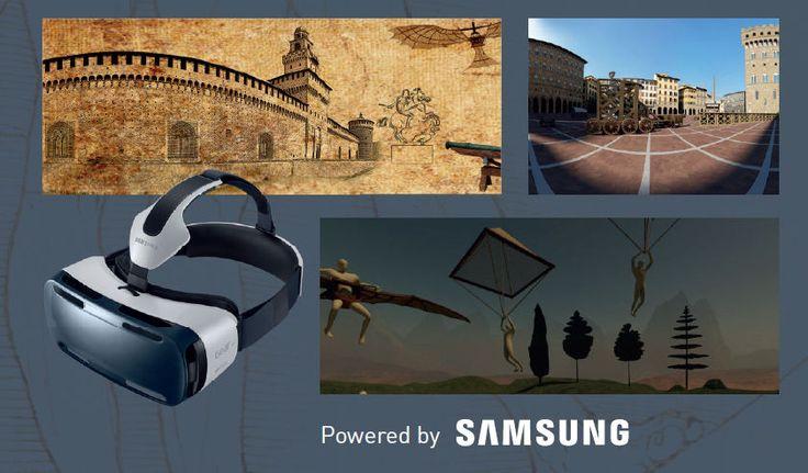 """Alla mostra """"Leonardo da Vinci"""" in corso a Palazzo Reale puoi indossare il rivoluzionario visore Samsung Gear VR e immergerti in un'esperienza a 360 gradi! #BeingLeonardo"""