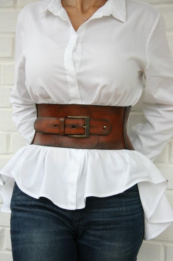 7f06bd3b93 Leather corset belt for women Wide waist belt Western belt Waist cincher